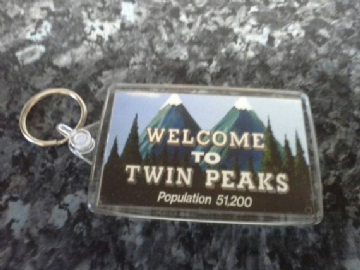 Welcome to Twin Peaks Jumbo Keyring. Cult TV